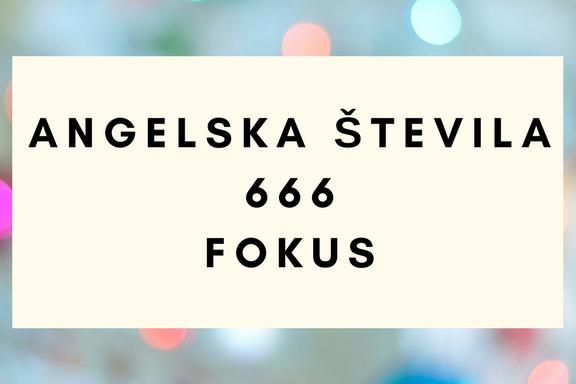 angelska števila 666